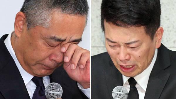 宮迫 フライデー 報道 どっち 本当 岡本社長(左)、宮迫博之(右)の画像