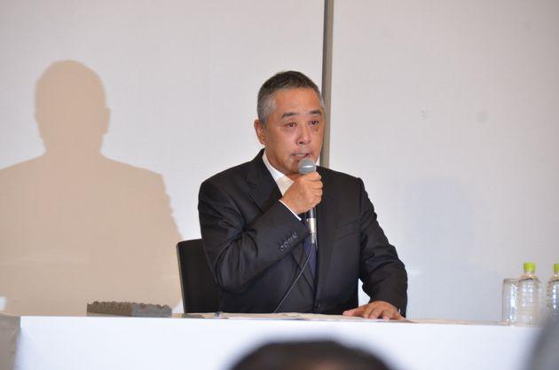 岡本社長 会見 世論 反転 疑問 岡本昭彦社長