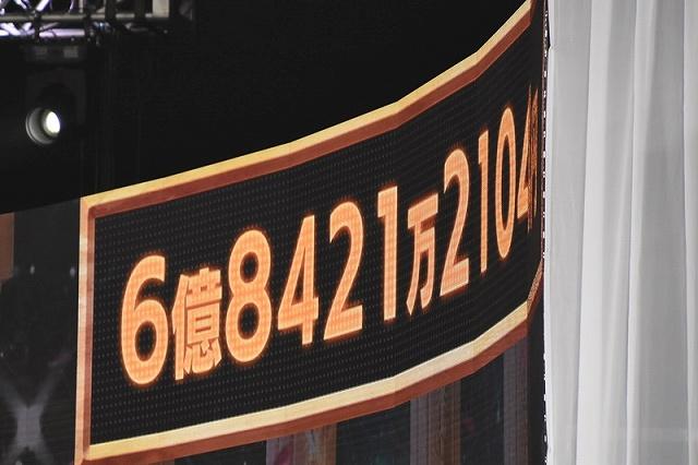 24時間テレビ 募金 6.8億 ギャラ 放送終了時点の募金額の画像