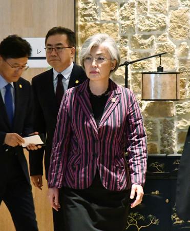 GSOMIA 破棄 米国 失望 仲介 韓国の康京和外相の画像