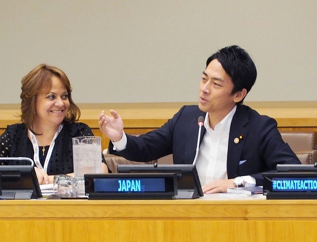 小泉進次郎 叩きすぎ 擁護 国連本部・小泉進次郎環境相の画像