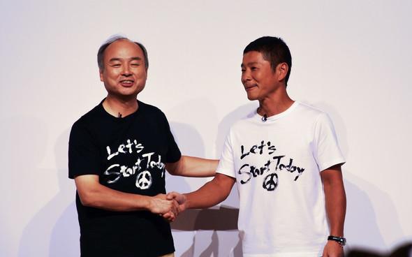 ヤフー ZOZO 買収 利用 孫正義会長と前澤氏の画像